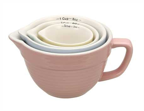 Pastel Stoneware Measuring Cup Set