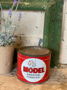 Vintage Model Smoking Tobacco Tin
