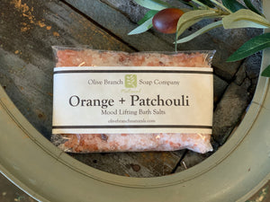 Orange + Patchouli Bath Salts Packet