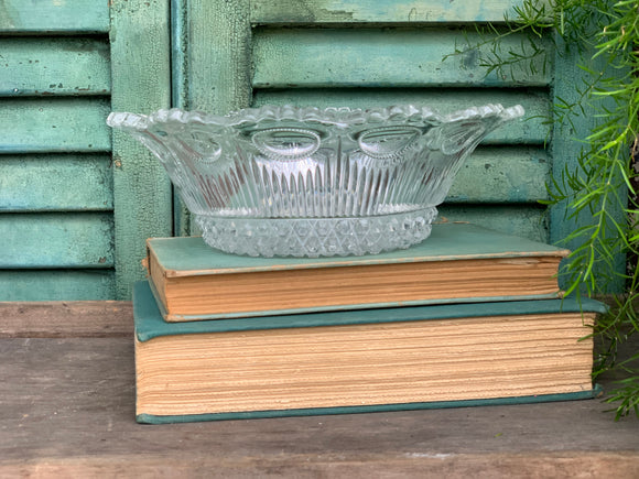 Antique Pressed Glass Bowl