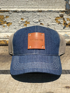 FarmStrong Denim and Leather Trucker Hat