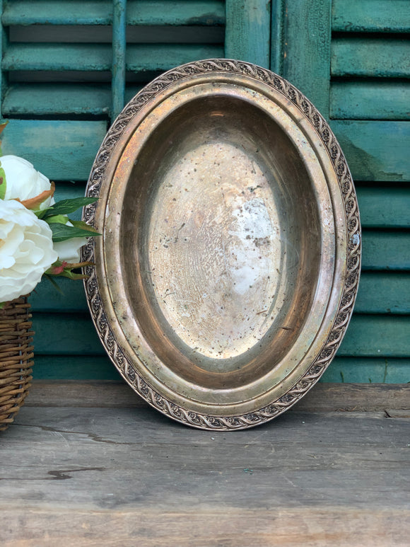 Vintage Silver Plated Oval Bowl