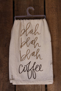 Blah Blah Coffee Tea Towel