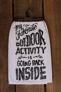 Outdoor Activity Tea Towel