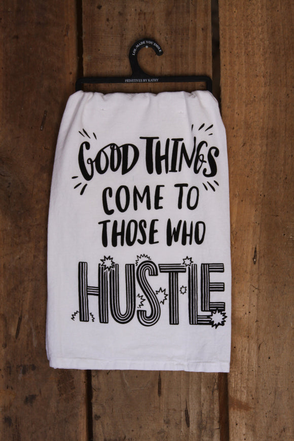 Hustle Tea Towel