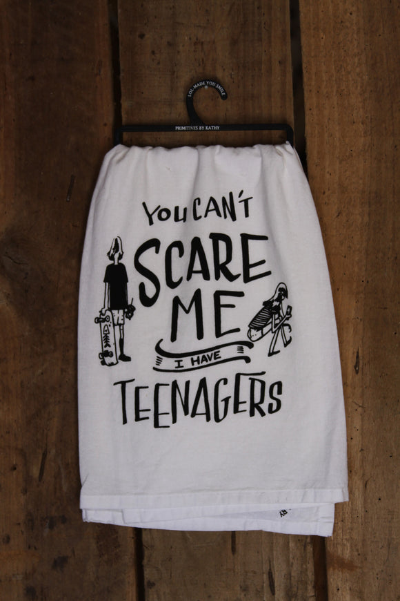 Can't Scare Me Tea Towel
