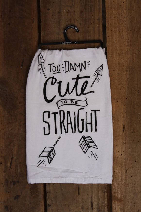 Too Damn Cute Tea Towel