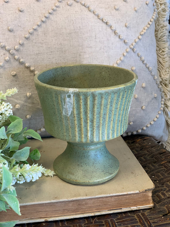 Green Speckled Floraline Planter