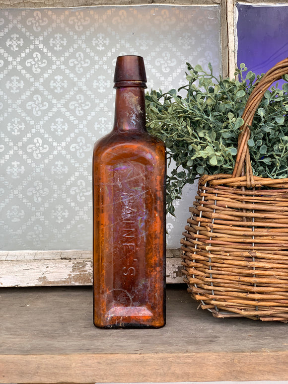 Antique Raine's Brown Bottle