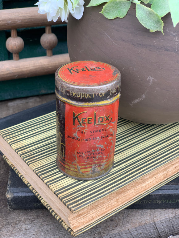 Vintage Keelox Typewriter Ribbon Tin
