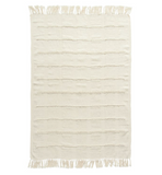 Cream Chenille Throw w/ Fringe
