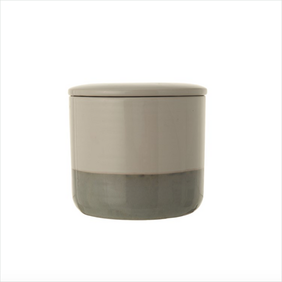 Stoneware Canister w/ Lid