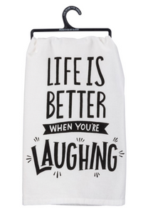 When You're Laughing Tea Towel
