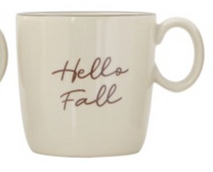Stoneware Cozy Fall Mug