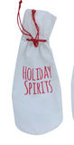 Drawstring Wine Bag w/ Holiday Sentiment