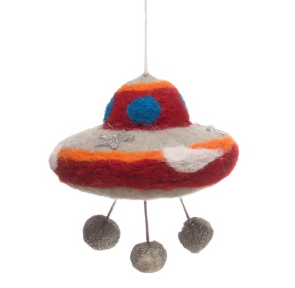 Wool Felt UFO Ornament