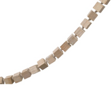 Whitewashed Wooden Square Bead Garland