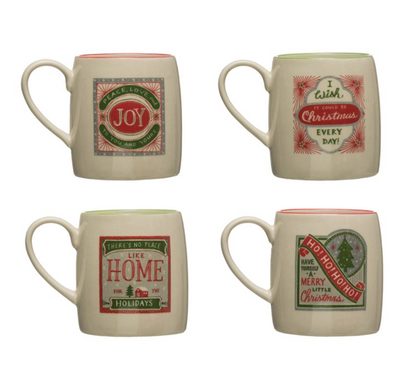Holiday Saying Stoneware Mug