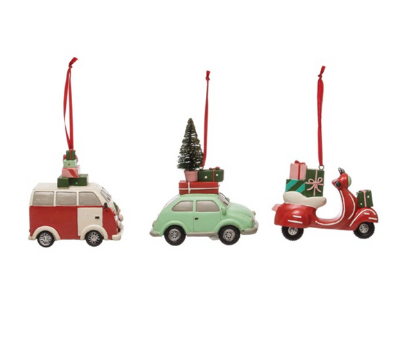 Retro Vehicle Ornament