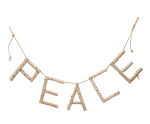 Birch Wood Peace Banner