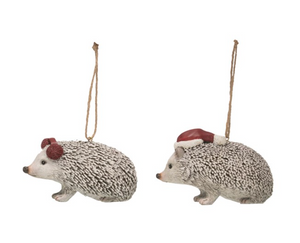 Holiday Hedgehog Ornament