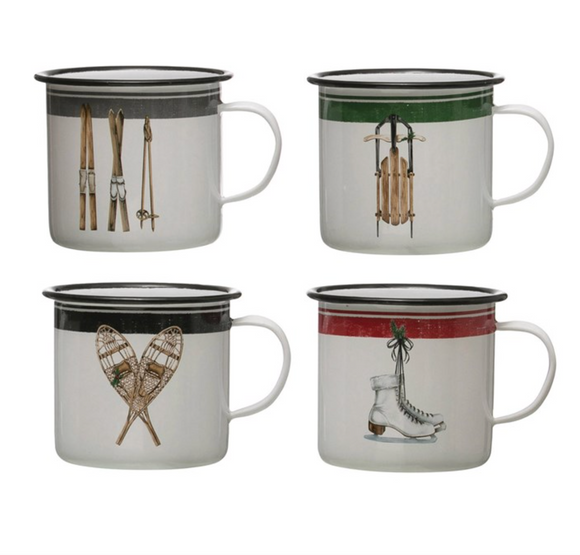 Enamel Snow Gear Mug