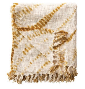Cotton Tie-Dyed Throw with Fringe