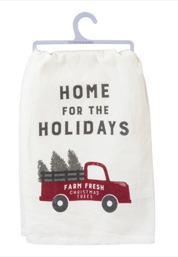 Home For The Holidays Tea Towel