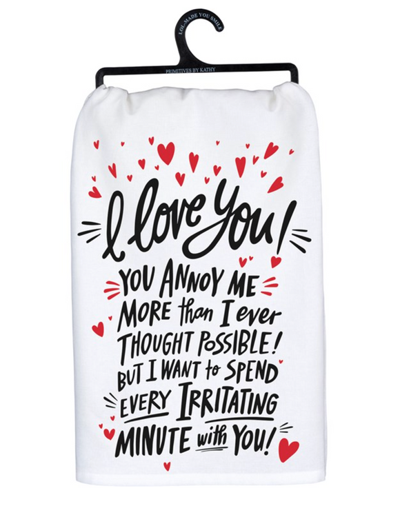 I Love You Tea Towel