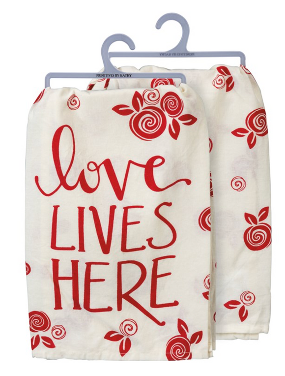Love Lives Here Tea Towel