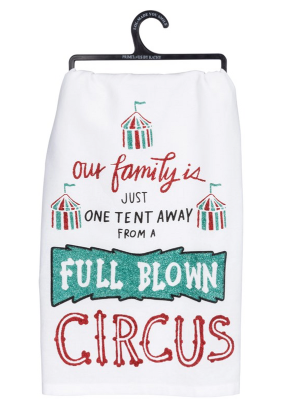 Full Blown Circus Tea Towel