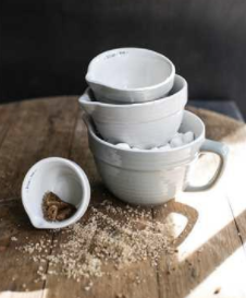 Grey Stoneware Measuring Cup Set