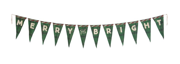 Merry & Bright Pennant Banner