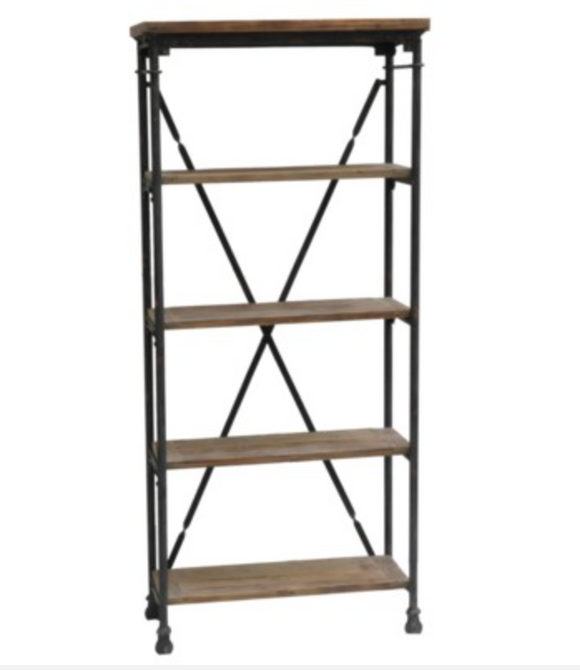 Industry Wood & Metal Bookcase