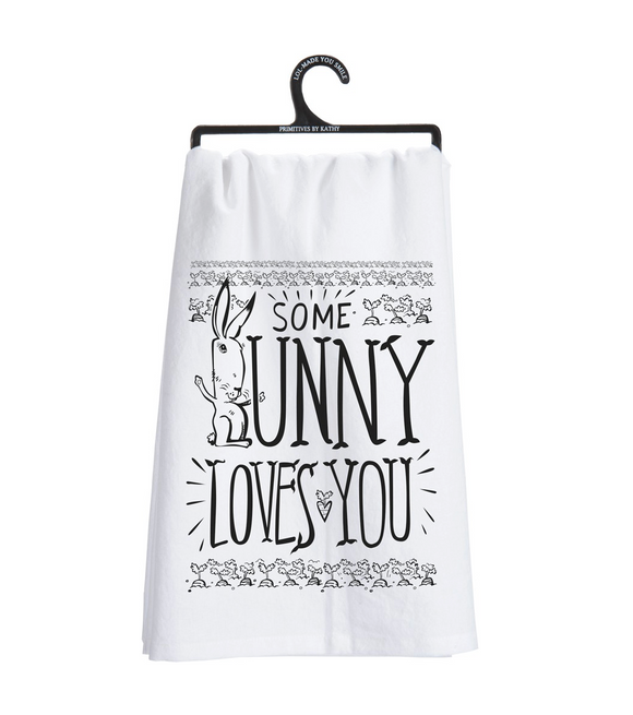 Some Bunny Loves You Tea Towel