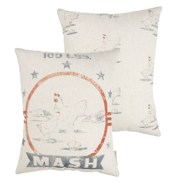 Mash Feed Sack Pillow