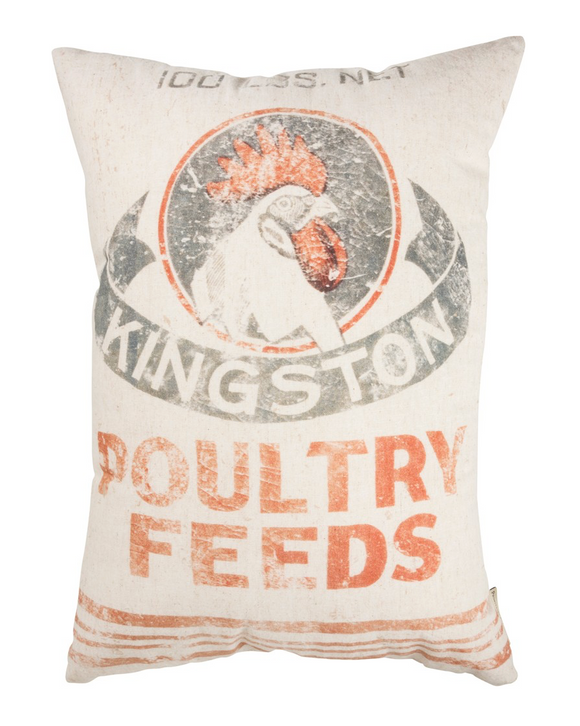 Kingston Poultry Feed Sack Pillow