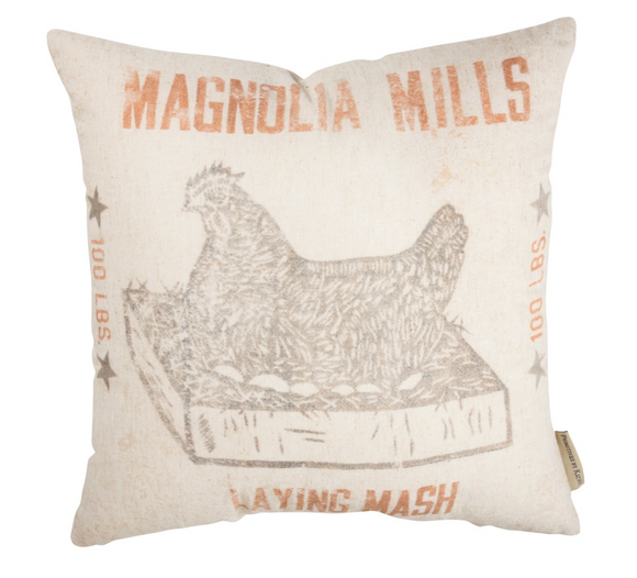 Magnolia Mills Feed Sack Pillow