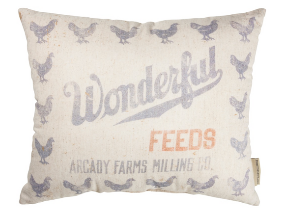 Wonderful Feed Sack Pillow