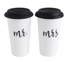 Mr. & Mrs. Stoneware Travel Mug