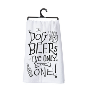 Dog Beers Tea Towel