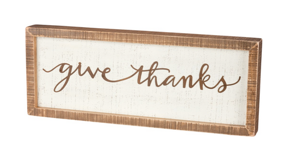 Give Thanks Inset Box