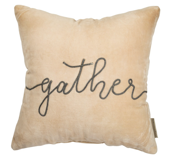 Velvet Gather Pillow