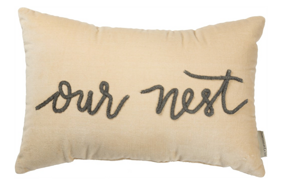 Velvet Our Nest Pillow