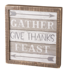 Gather Give Thanks Inset Box