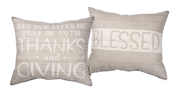 Thanks & Giving Double Sided Pillow