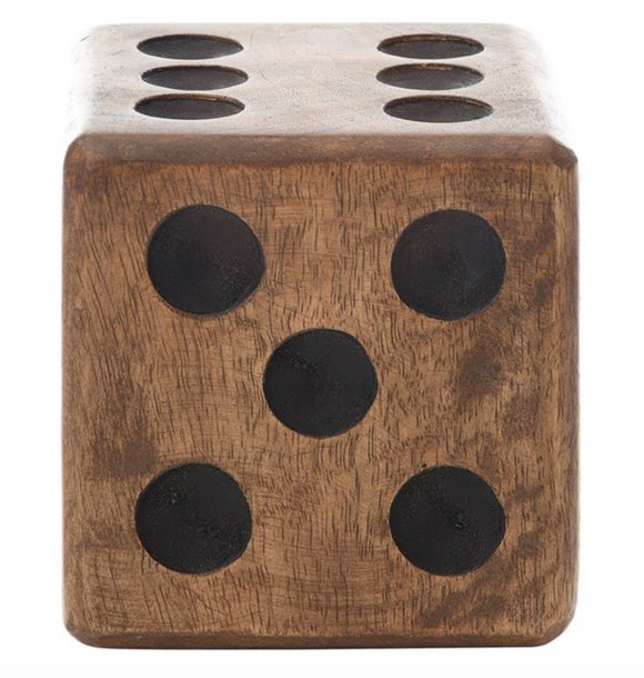 Hand Carved Wood Dice