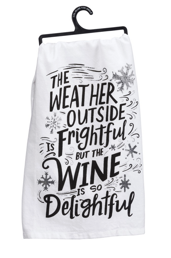 Wine is Delightful Tea Towel