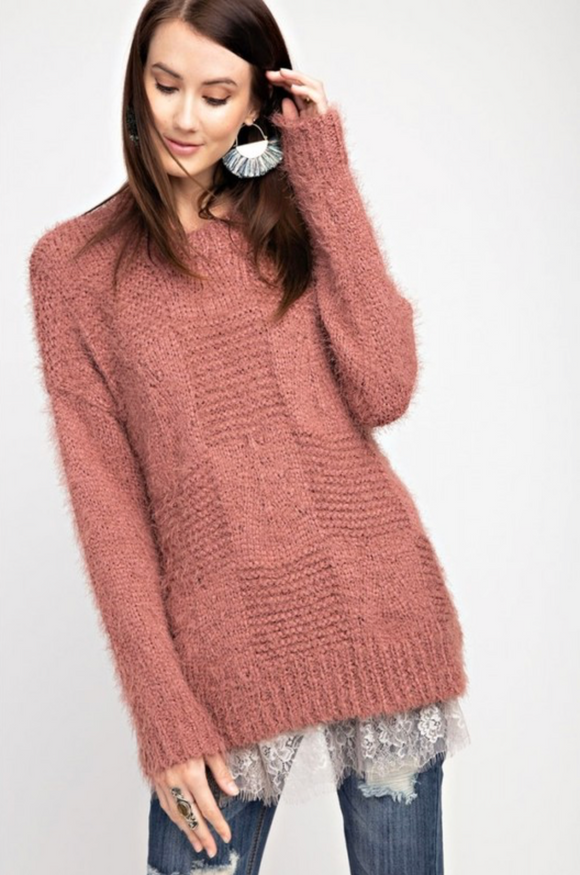 Soft Mohair Knitted Sweater Top