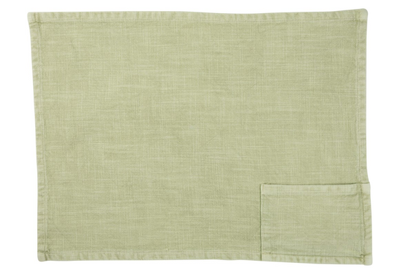 Stonewashed Pastel Cotton Pocket Placemat
